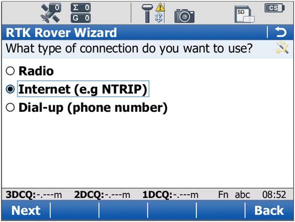Creating a new NRTK profile - Step 13