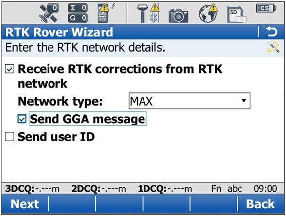 Creating a new NRTK profile - Step 23