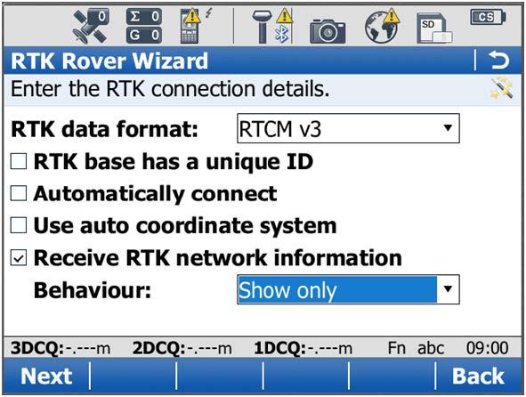 Creating a new NRTK profile - Step 24