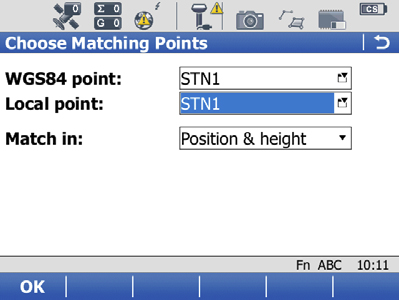 GNSS – Determine Coordinate System using Multiple Points