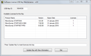 StarNet Guides: How to update your USB licence key